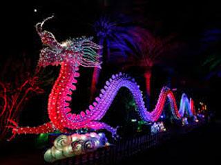 Porcelain Glass Dragon Full Length