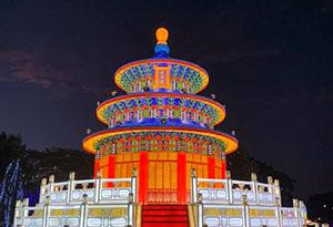 Silk Temple of Heaven Lantern
